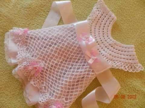 Crochet Baby Dress - Solomon's Knot Crafting Crochet Geek - YouTube