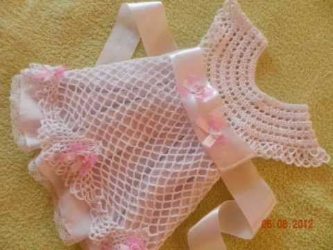 Crochet Baby Dress - Solomon's Knot Crafting Crochet Geek - YouTube