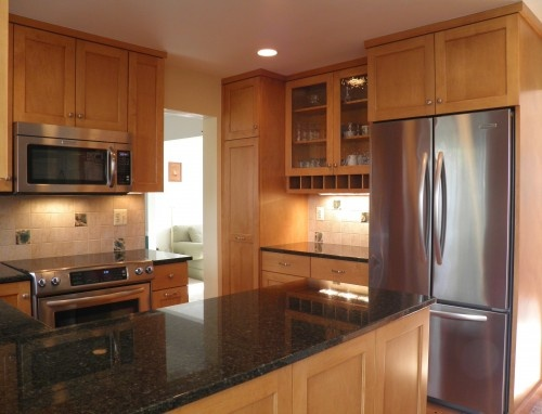 17 Best Images About Kitchens Maple Cabinets Dark Granite On Pinterest Floors Stainless
