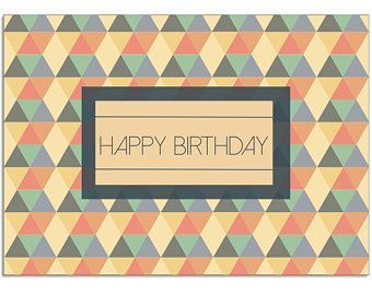 RetroActiveDesignCo | Printable Happy Birthday card | 5x7
