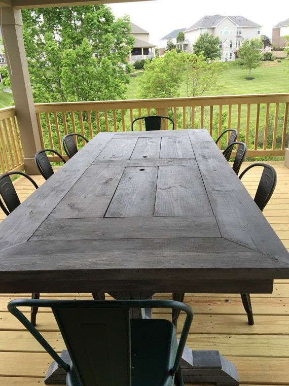 Entertain family and friends with a large farm table with built-in coolers. Perfect for patios, porches and decks