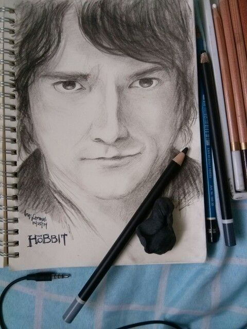 Bilbo Baggins #thehobbit #drawing #byme #martinfreeman