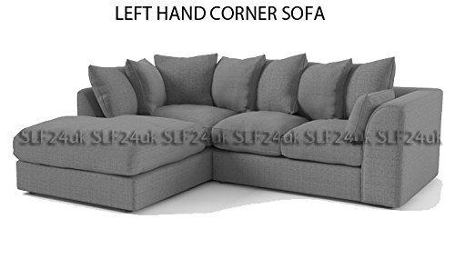 Porto Darcy Corner Group Sofa in Grey Sawana Fabric - Left or Right Hand (Left Hand Corner): Amazon.co.uk: Kitchen & Home