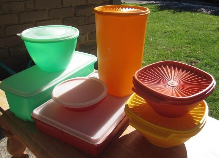 Seven Pieces of Retro Tupperware