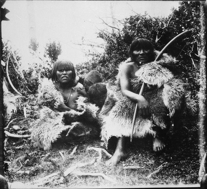 Isla Grande. Selknam, 1920.