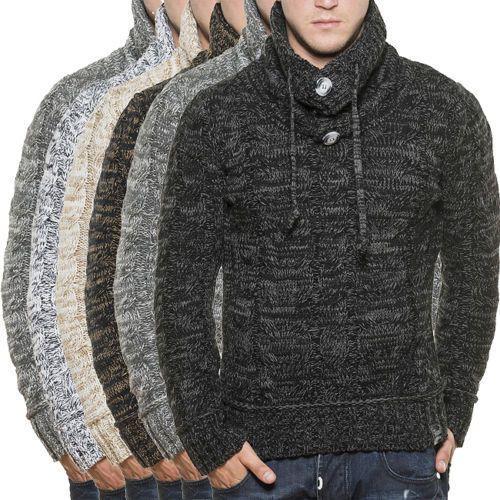 Tazzio 3960 Para Hombre Cuello tejido estilo jersey Suéter De Invierno Jumper in Ropa, calzado y accesorios, Ropa para hombre, Suéteres   eBay