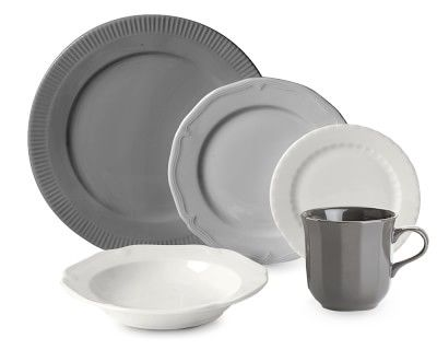 Eclectique Dinnerware Place Setting, Grey #williamssonoma