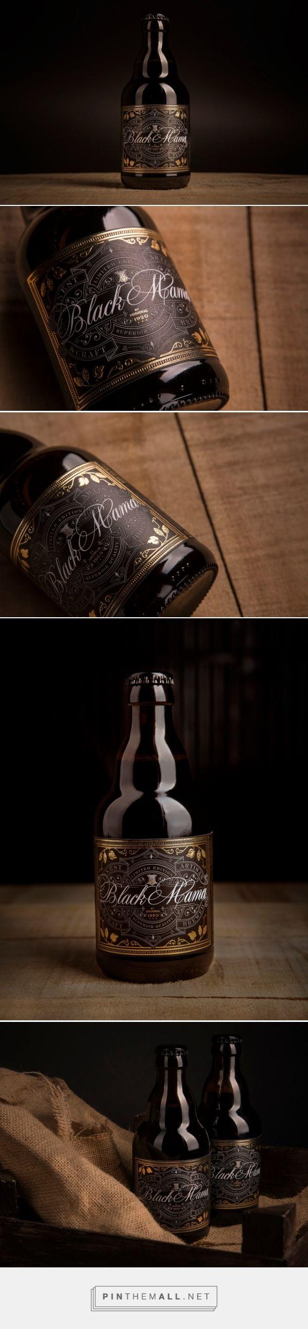 Black Mama Craft Beer packaging design by Think Bold Studio (Portugal) - http://www.packagingoftheworld.com/2016/05/black-mama-craft-beer.html