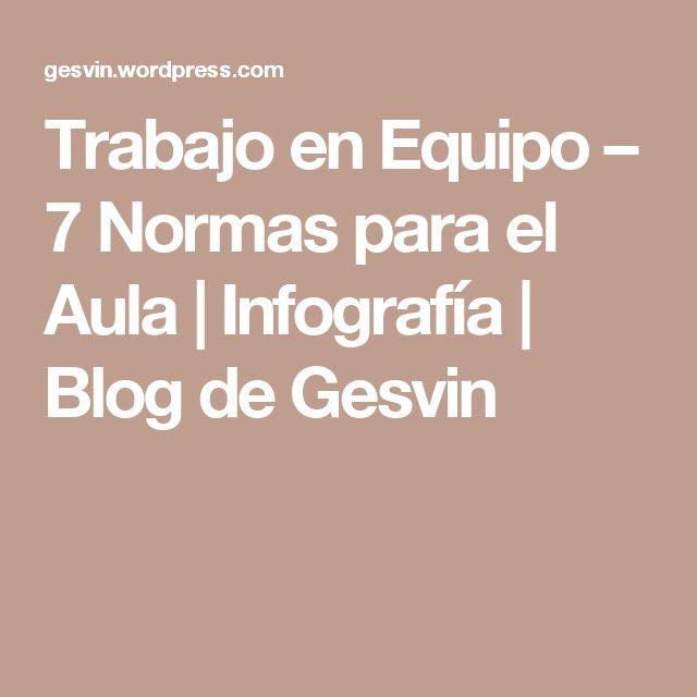 Trabajo en Equipo – 7 Normas para el Aula   Infografía   Blog de Gesvin