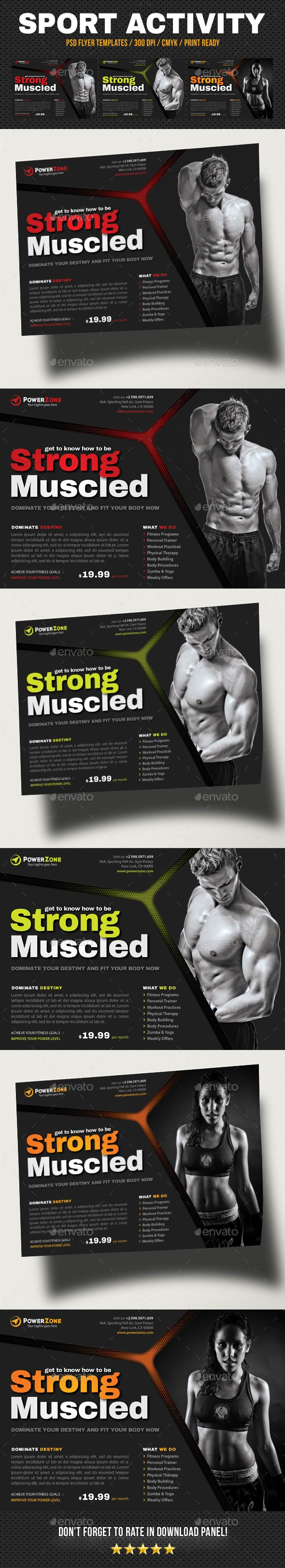 493 best Fitness Flyer / Sport Flyer / Print Templates / PSD images ...