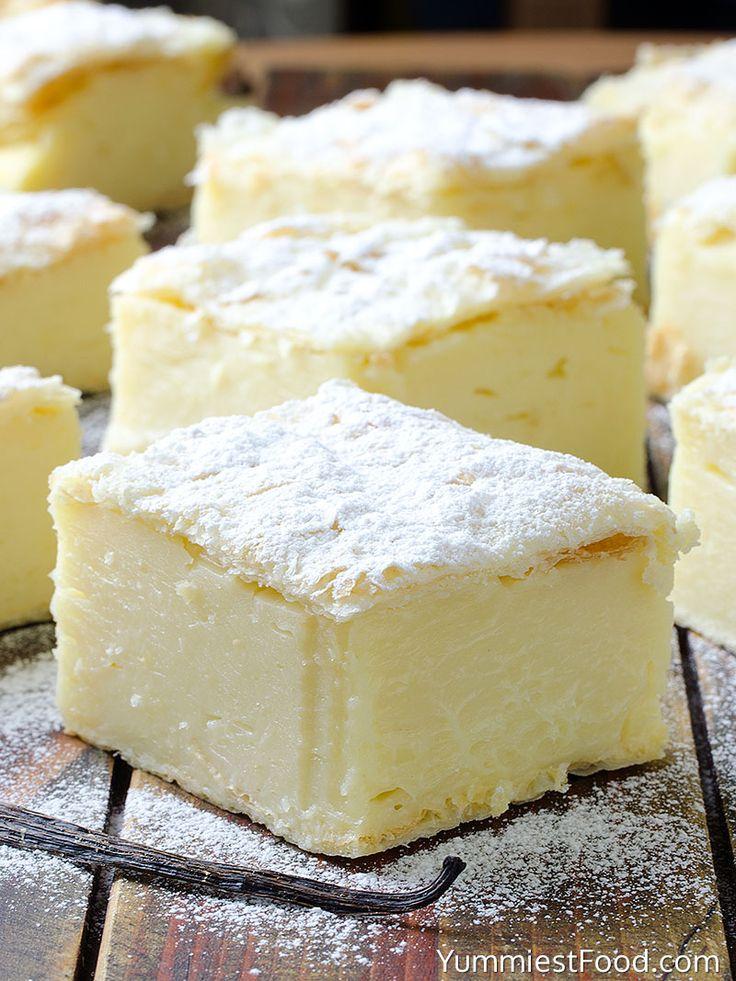 Vanilla Custard Slice at the table