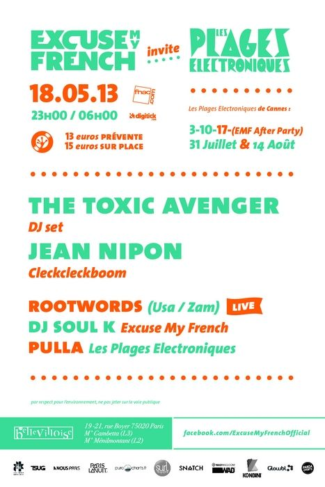 [EVENEMENT] Excuse My French invite Les Plages Electroniques | Openminded le blogOpenminded le blog