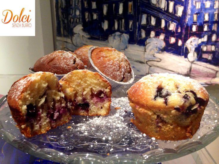 Muffin ai Mirtilli Senza Burro - Dolci Senza Burro