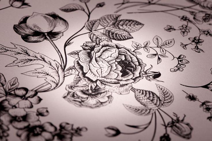 Romantické svatební oznámení - květinový dekor / Romantic wedding invitation - floral pattern
