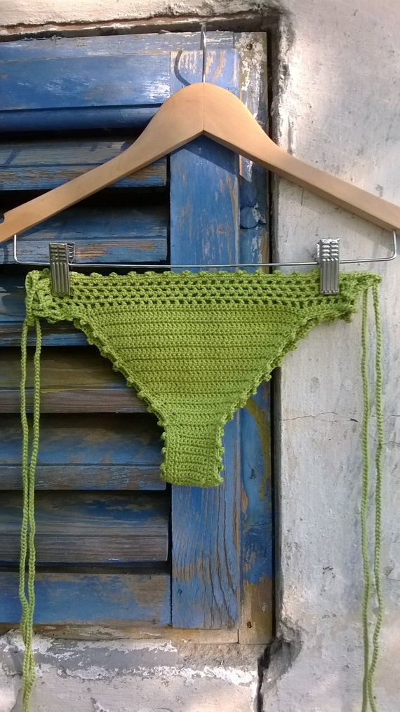 crochet bikini set Green Grass Bikini Crochet Beachwear Crochet swimwear Gift for her Gift for woman Crochet swimsuit Crochet bathingsuit
