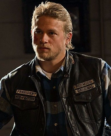 CharlieHunnam as Jax Teller in Sons of Anarchy