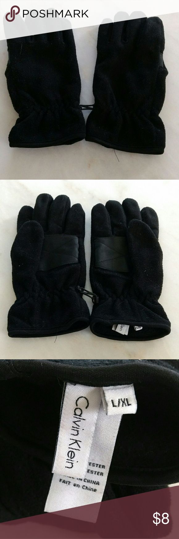 Fingerless leather gloves mens accessories - Calvin Klein Men S Gloves L Xl Calvin Klein Gloves 100 Polyester