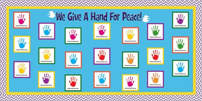 We Give A Hand For Peace! - MLK Day Bulletin Board