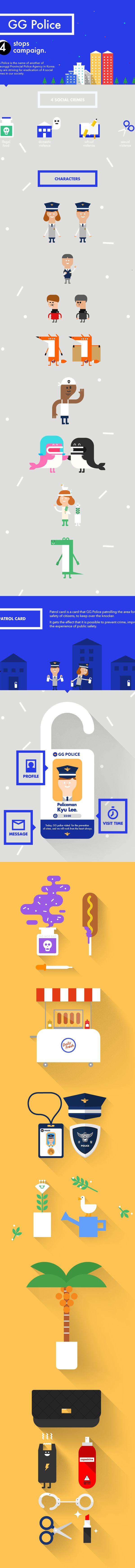 GG POLICE by Hyunkyu Lee, via Behance