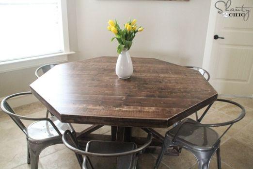 diy round kitchen table kitchen furnitures octagon table diy rh pinterest com diy round farmhouse kitchen table diy small round kitchen table