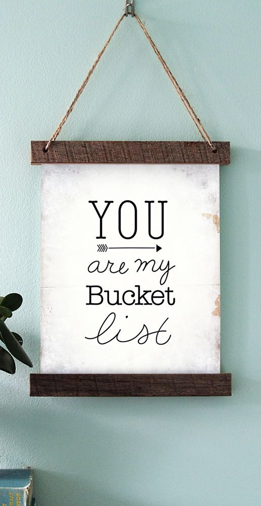 You are my bucket list print design || Short and Sweet Creative Shop