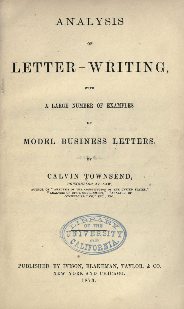 Analysis of letter-writing : with a large number of examples of model business letters