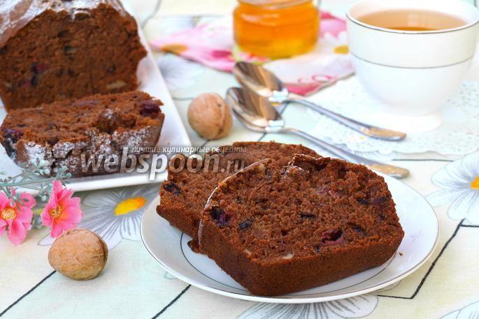 Постный кекс с вишней и имбирём