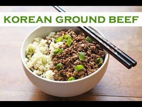 Korean Ground Beef Recipe Korean Ground Beef Healthy Ground Beef Beef Recipes