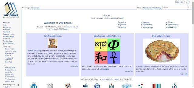 19 Ways to Find Free Textbooks Online: Wikibooks