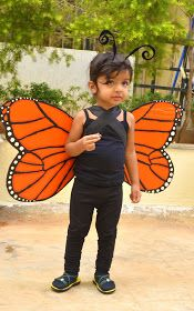 Monarch Butterfly Cardboard Wings The 69th Independence Day celebrations at our apartment hosted a fancy dress competition. I dec...
