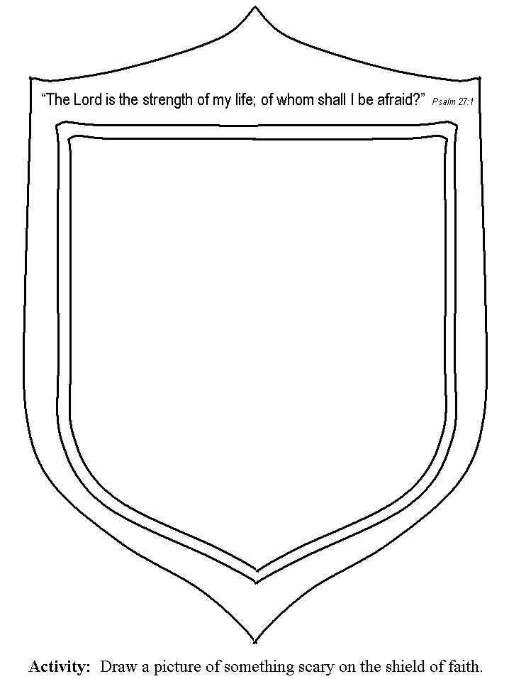 god is my shield coloring page 179 best images about armor of god on pinterest crafts
