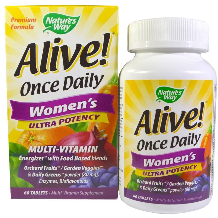 Nature s Way, Alive! Once Daily Women s Ultra Potency Multi-Vitamin, 60 Tablets