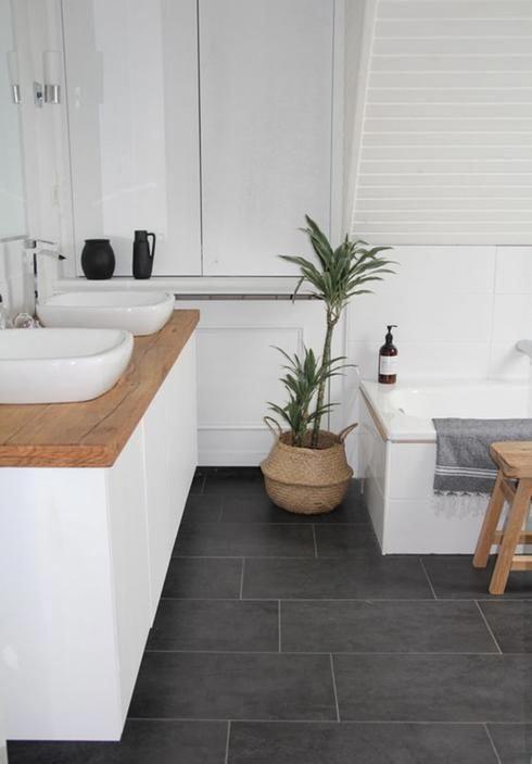 Salle de bain plancher de céramique \u2026 Déco Passion Mode Pinte\u2026