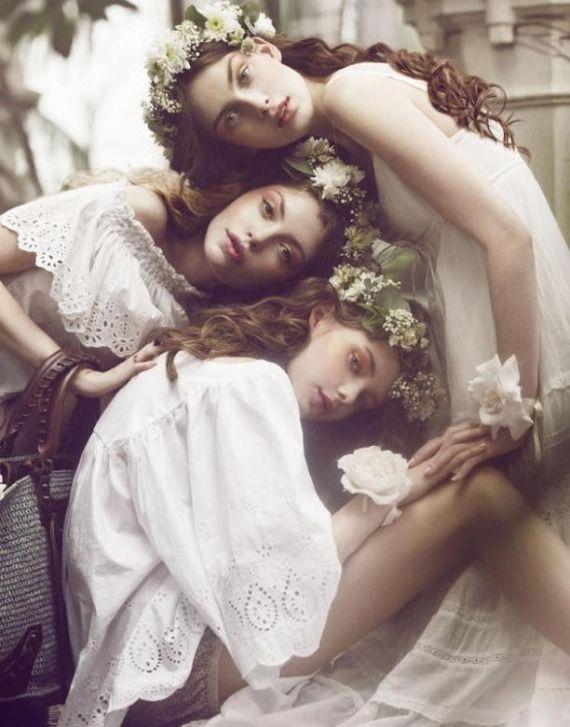 : Nymphs, Sisters, Inspiration, Flower Crowns, Bridesmaid, Flowergirl, Flower Girls, Photography, Floral Crowns