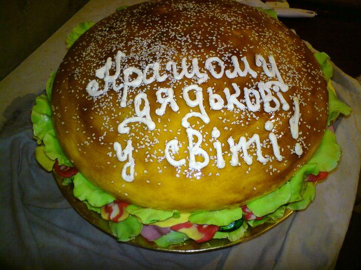 гамбургер #торт_на_заказ_мариуполь #тематические #шоколадный_торт #комбинированный_торт