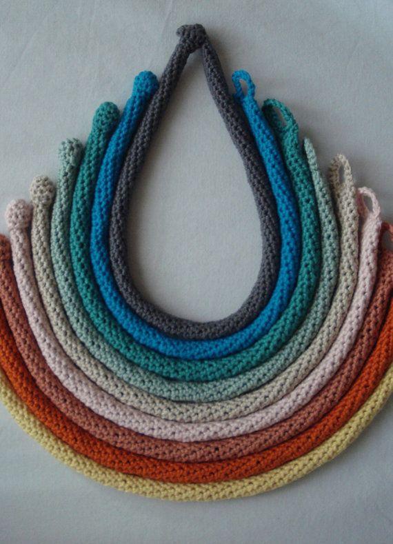 Crochet necklaces. Love!