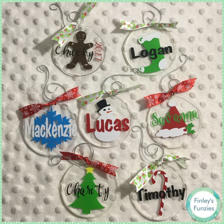 Name customized Christmas Ornaments by FinleysFunzies on Etsy