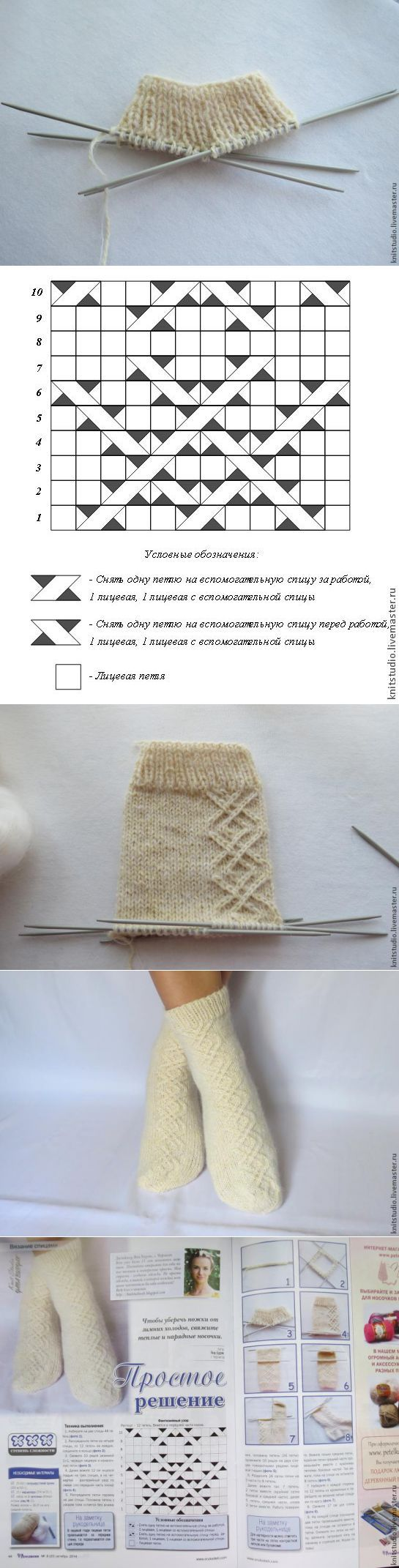 Вяжем шерстяные носки на 5 спицах - Ярмарка Мастеров - ручная работа, hand | Вязание | Постила