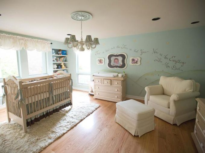 """House of Turquoise:  Turquoise Nurseries Galore--lovely nursery with our Cottage Crib and Taylor Changer Dresser """"Layla Grayce/Newport Cottages Dream Room"""