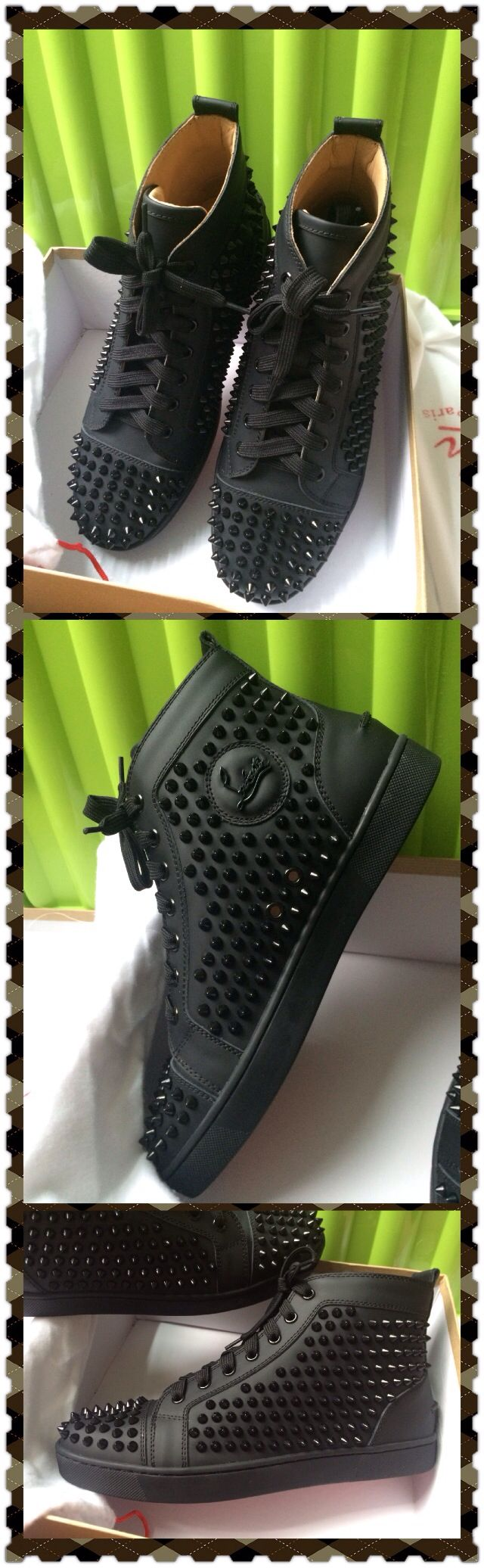 Christian louboutin on sale, 2014 new model, size 35-46, best quality with authentic leather, spikes and soles, $280 include shipping cost to USA , Europe. Contact me to buy please. gumarstrade@gmail.com