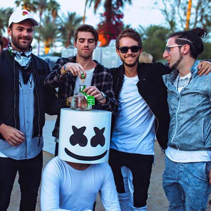 The chain smokers, zedd, marshmellow, and I think another DJ