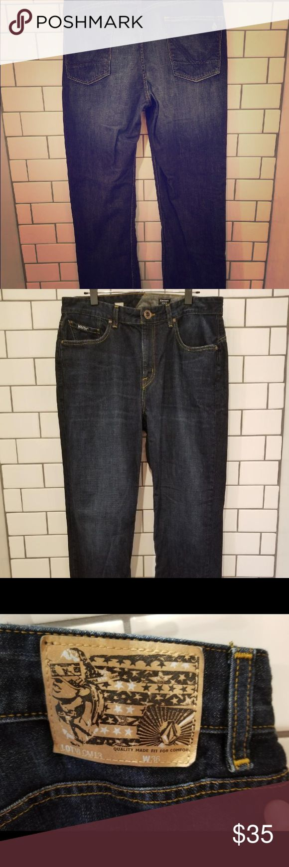 Volcom Men size 36 This jeans were worn a few times. Hubby got chubby!  They are in great condition. See pictures - they have the secret pocket! size 36 width by 31 inseam length. All offers considered. Volcom Jeans Straight