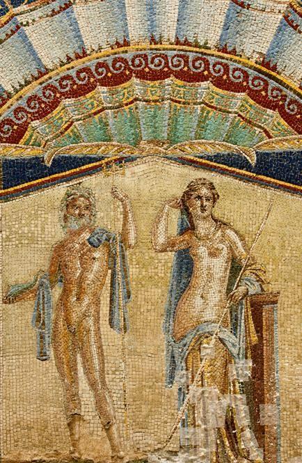 Herculaneum Archeological Park, House of Neptune and Amphitrite fresco