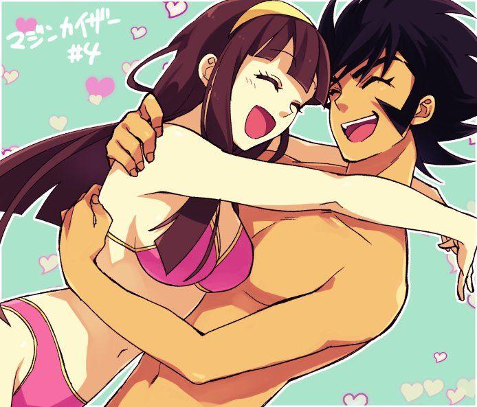 Koji Kabuto & Sayaka Yumi (Mazinger Z) drawn by Utou