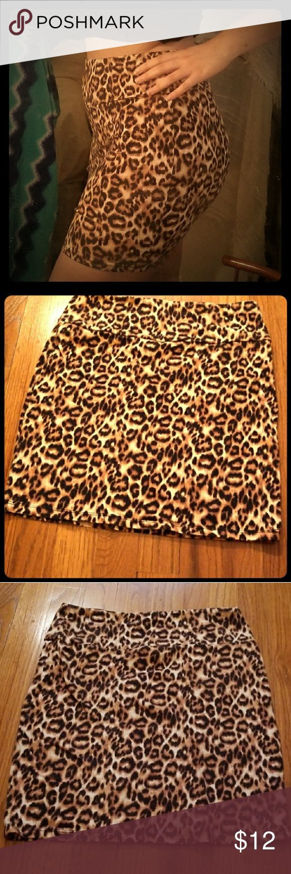 Cheetah Skirt Are you ready to pounce on that dance seen or strut into the big promotion with your cheetah skirt? This darling can get the Jaws dropping and bring up the confidence you already exude. Pair this with a red blazer and black pumps and get that cubicle popping! Or maybe with a leather jacket and a crop top, run those streets and flip that hair! Never worn, no wear, damage, pilling, etc. Even if you got the booty or not, this skirt helps slim the tummy and pop that booty ! Forever…