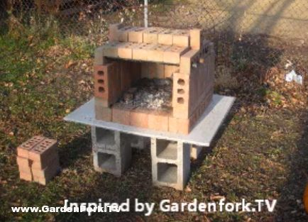 Portable Backyard Brick Oven DIY style! Video and plans for a brick pizza oven in your backyard with used clay bricks and angle iron