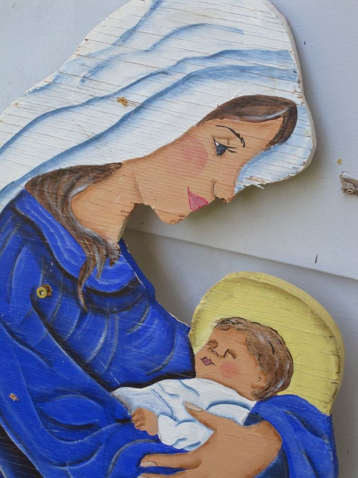 Flowers On The Roof: DIY Painted Outdoor Nativity Set                                                                                                                                                                                 More