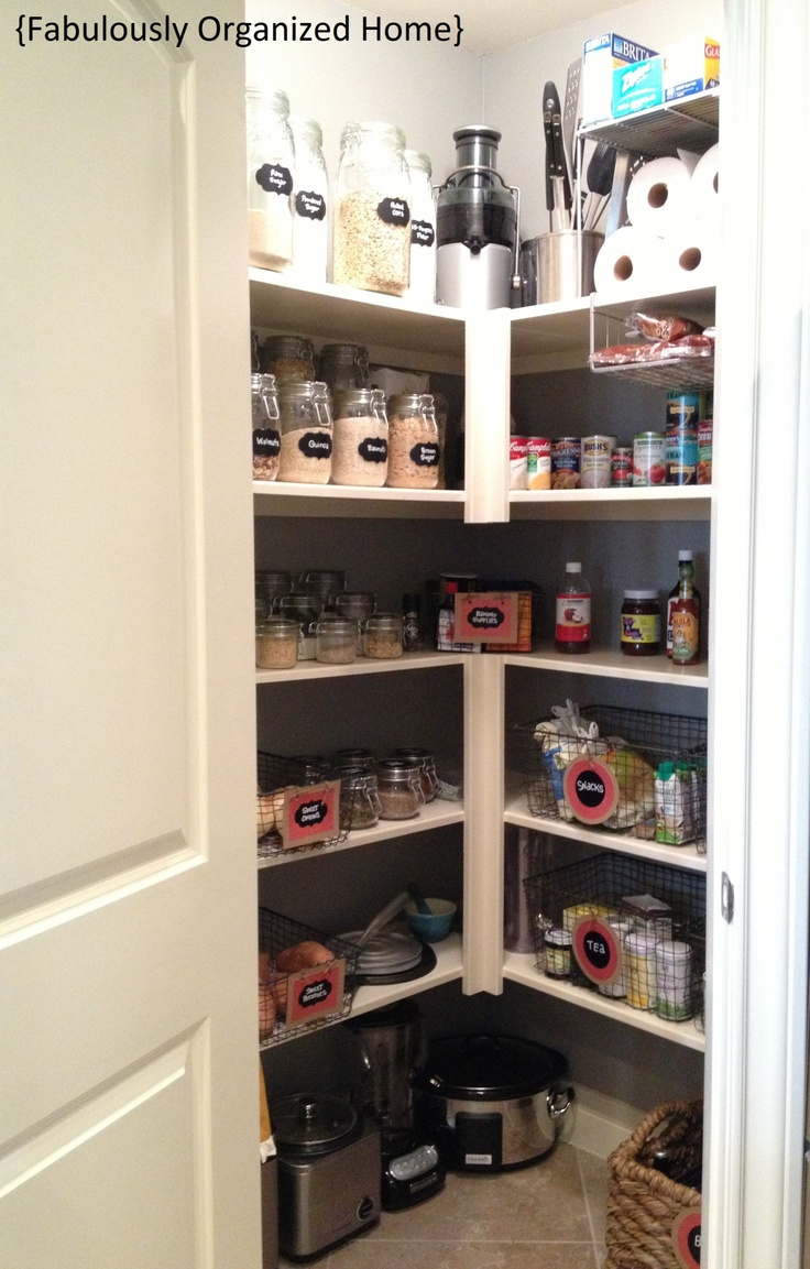 Pantry organization ideas kitchen pinterest for Kitchen organization ideas