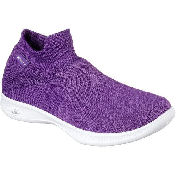 Skechers Women's Skechers Go Step Lite - Ultrasock Purple - Skechers... (£50) ❤ liked on Polyvore featuring shoes, sneakers, purple, skechers trainers, skechers footwear, purple shoes, slip on shoes and pull-on sneakers