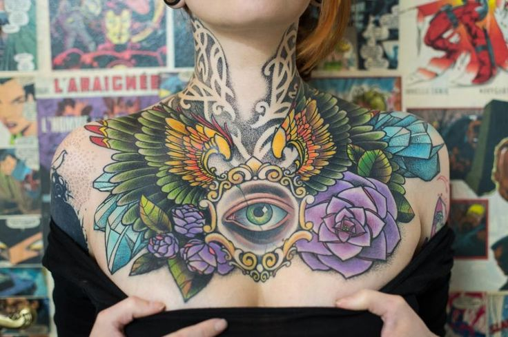 cool tattoo all seeing eye chest